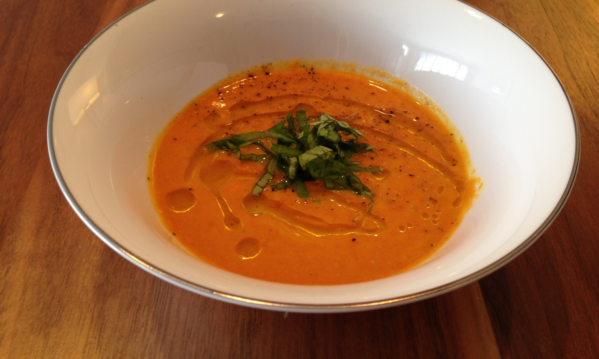 Chilled Carrot and Ginger Soup