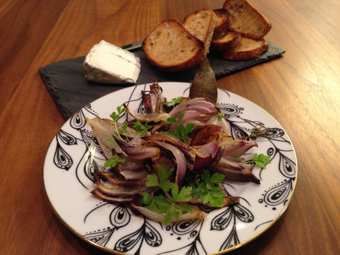 Roasted Red Onion Plated