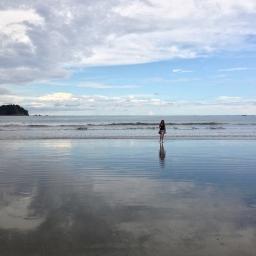 Low tide in Playa Samara in Costa Rica