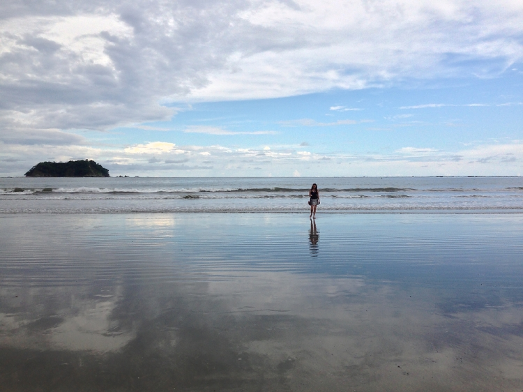 Low tide in Playa Samara in Costa Rica