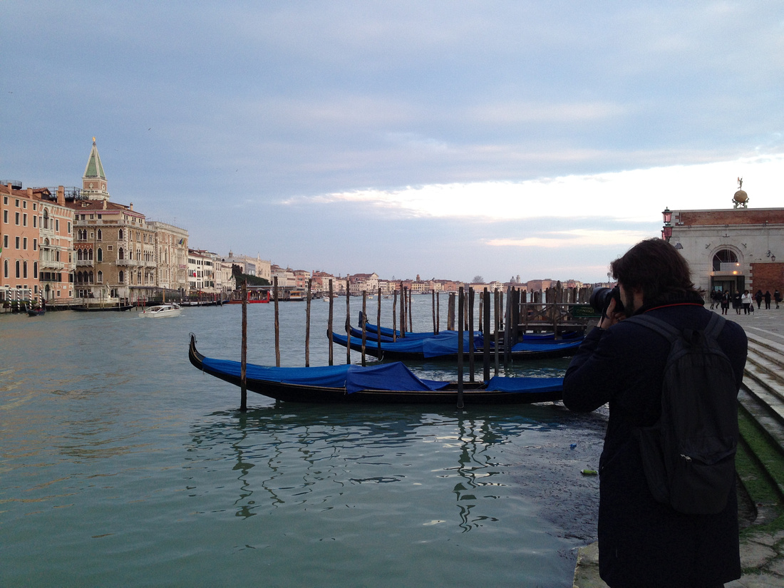 Paolo at work in Venice