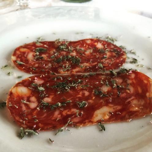 Homemade Salami with Farm Fresh Dried Herbs