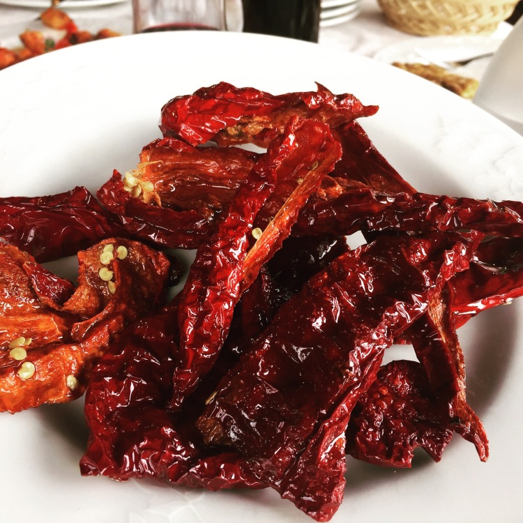 Fried Red Peppers