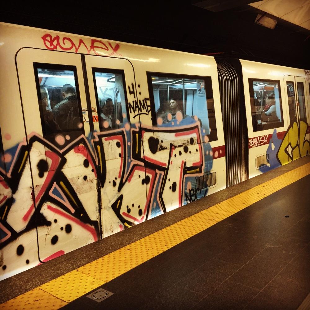 Graffiti of Rome's Subway