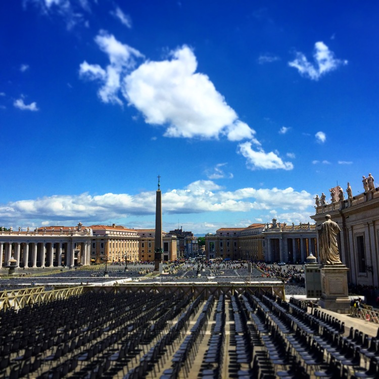 View down Via della Conciliazione from the Vatican