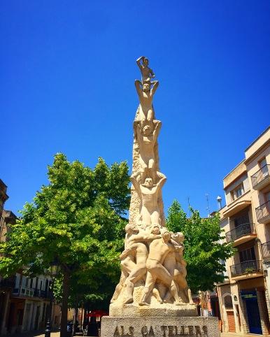 Statue Celebrating Vilafranca Castell Tradition