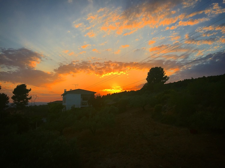 Sunset in Villafranca Spain