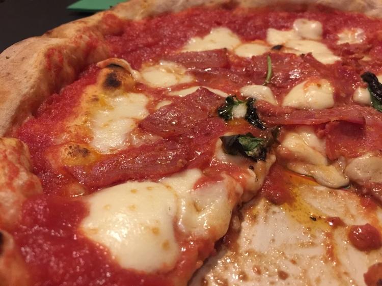 Pizza Diavolo at ReBasilico in Rome