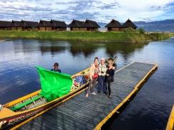 Boatside in Burma