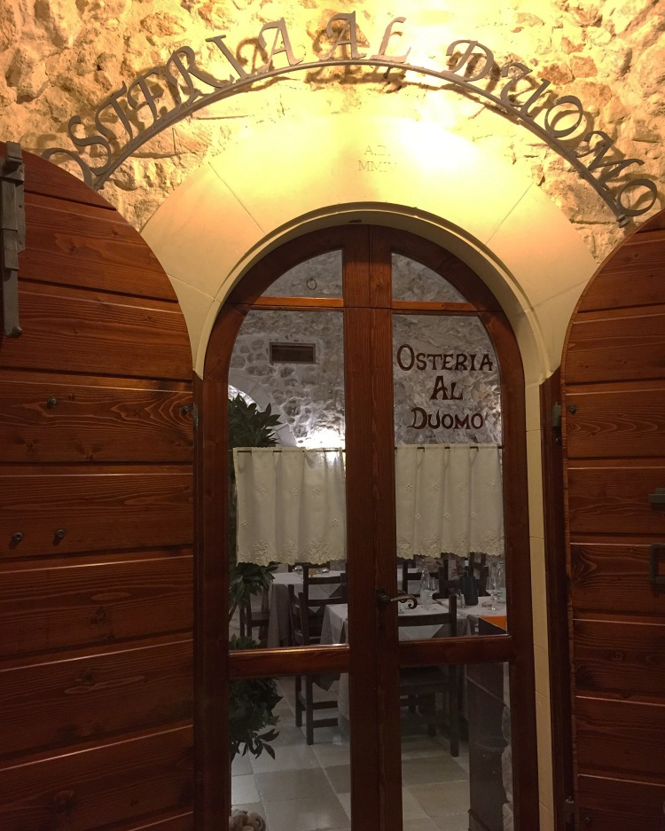 Door of Osteria al Duomo