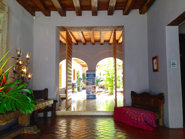 Lobby to Hotel Ananda Cartagena Colombia