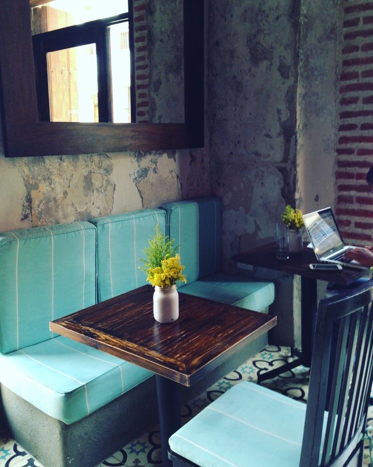 Seating at El Baron Cartagena