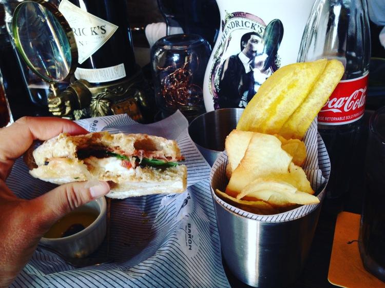 Mozzarella & Prosciutto Sandwich