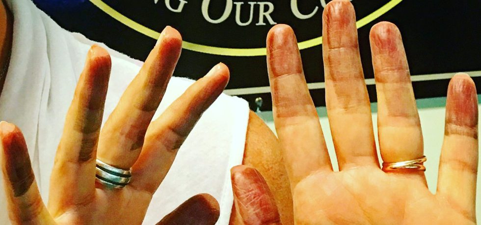 Fingerprint Ink of Duel Citizenship