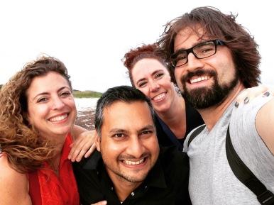 Val, Ayaz, Myself & Bello