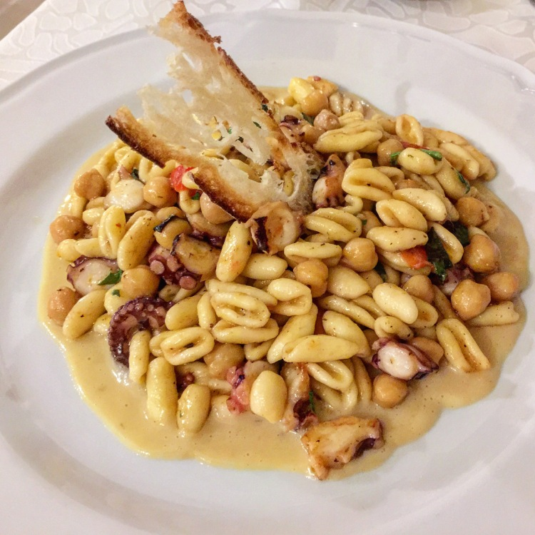 Cavatelli with Pulpo and Chickpeas