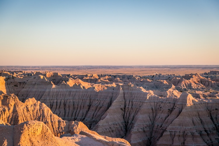 Rising Moon in the Badlands