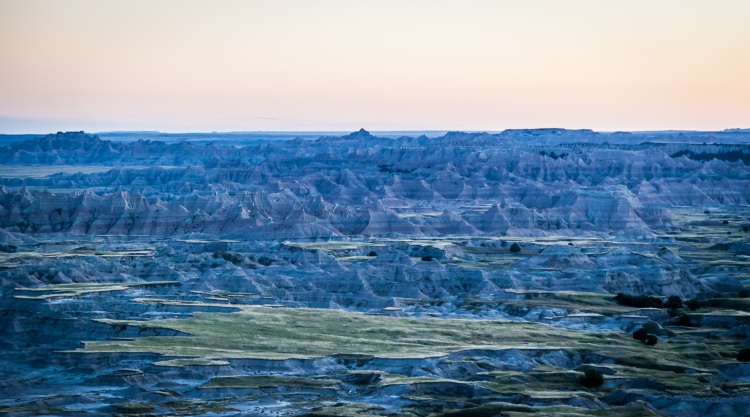 The Badlands at Dusk