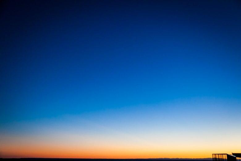 Sunset on the Horizon Badlands