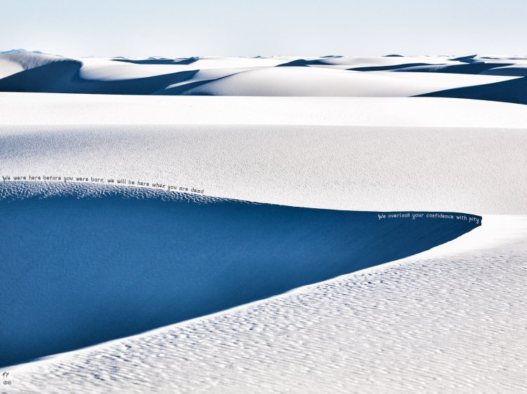 Confidence by Paolo Ferraris Colors in White Sands New Mexico