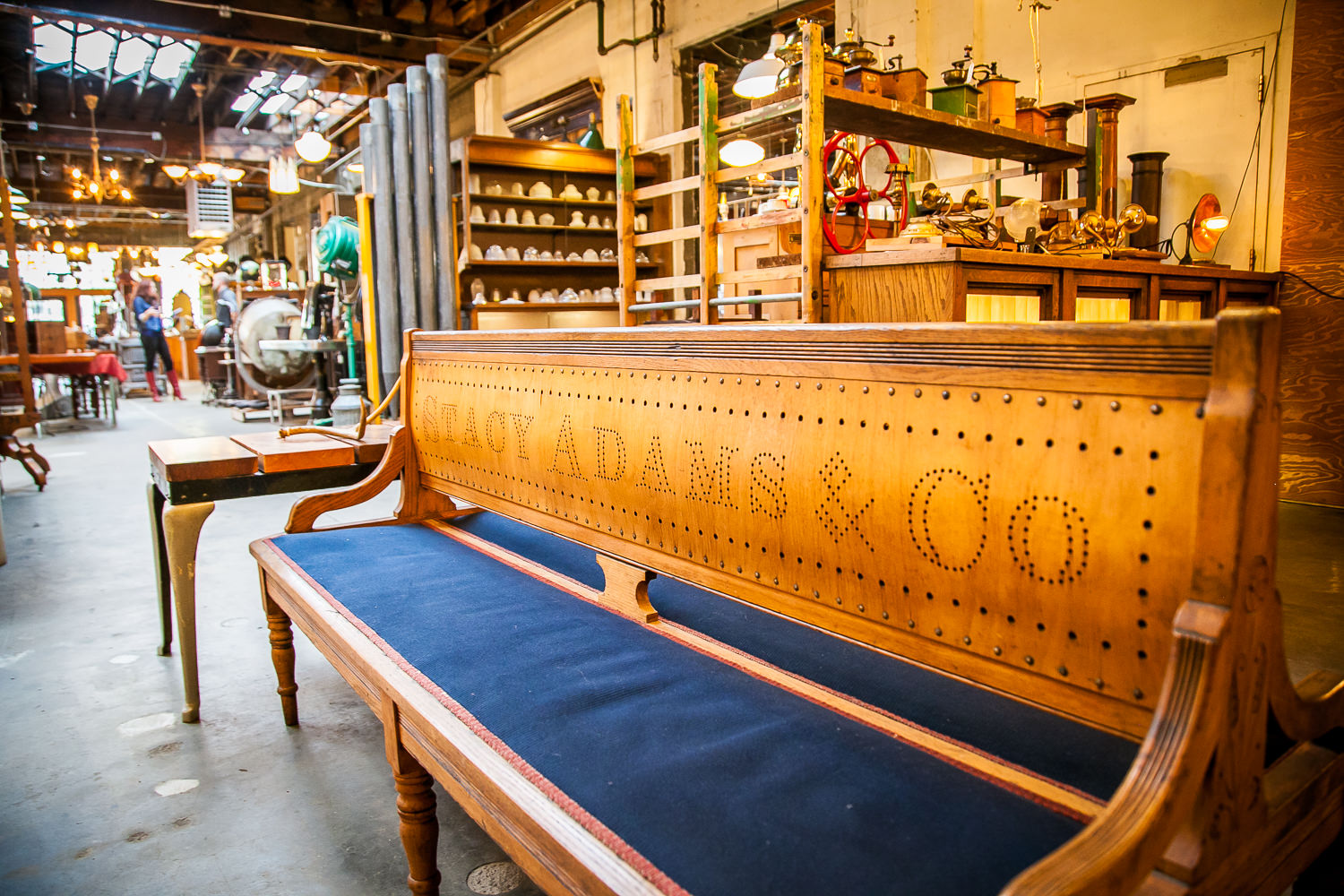 Restored Bench at Old Portland Hardware & Architectural