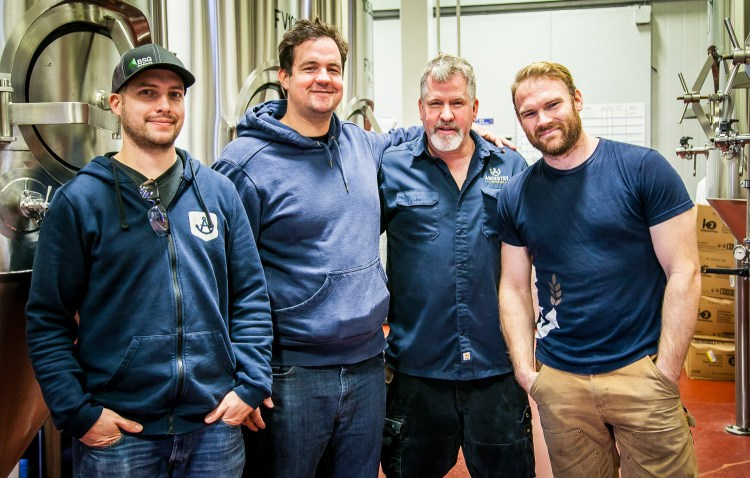 Head Brewer Trevor, Founder Jeremy, Cellar Manager Mel and Barrel Mastermind Neal