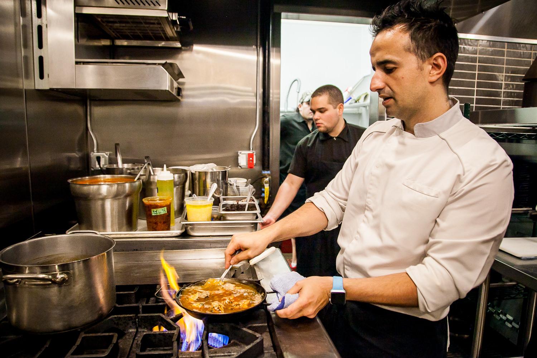 Chef Joseé Chesa at Work