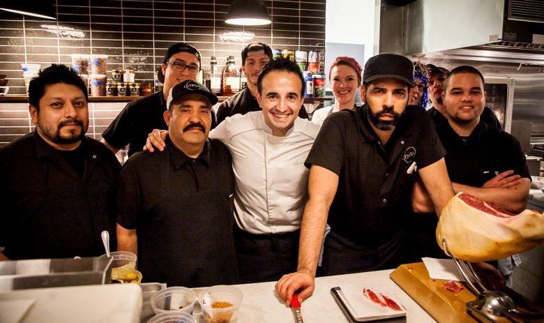 Sous Chef Abel Mendoza right of Chef José Chesa