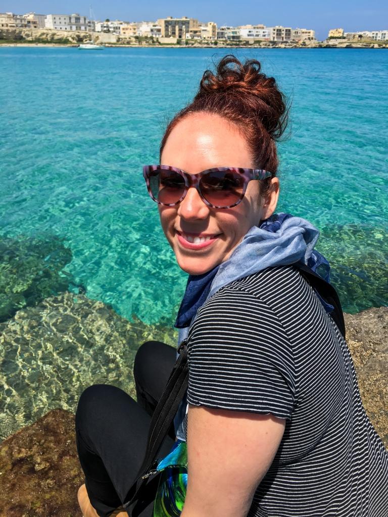 Sitting at the Bay of Otranto at Noon