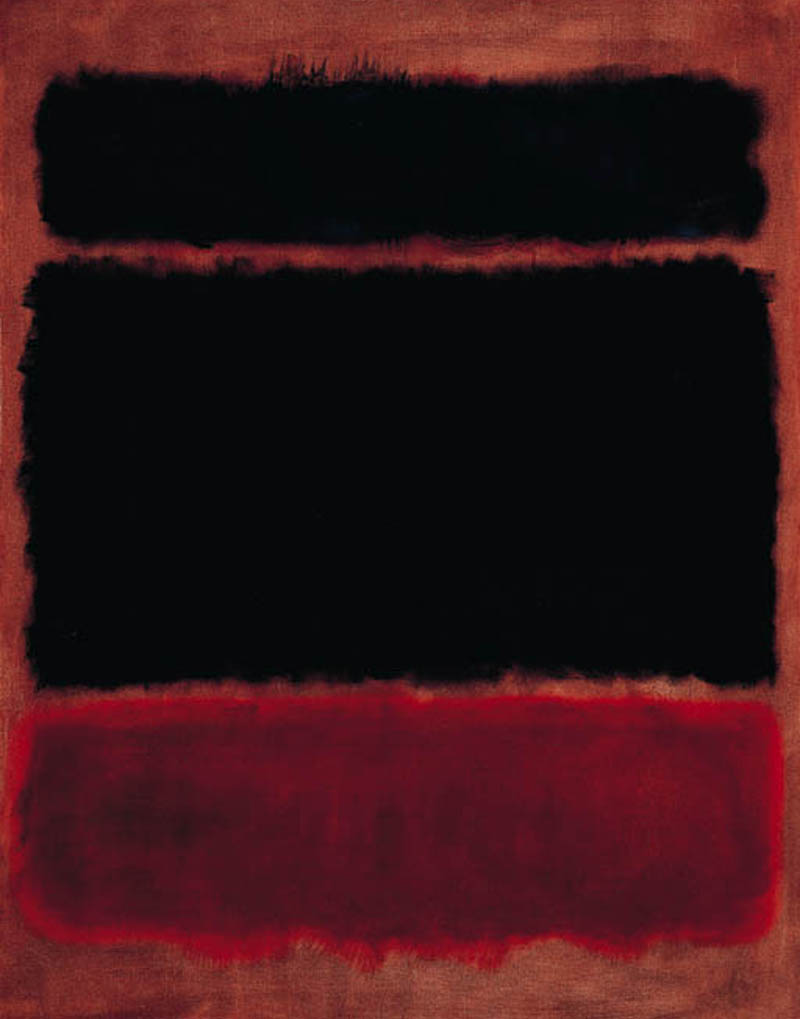 Black in Deep Red by Mark Rothko, 1957
