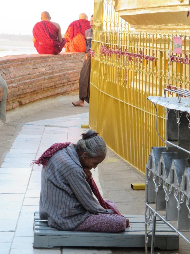 Burmese Woman at Prayer