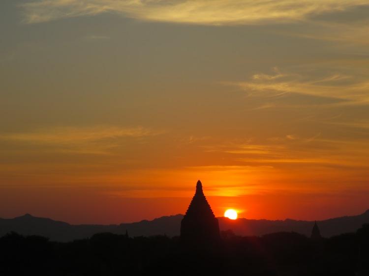 Sunset Over Bagan in Myanmar