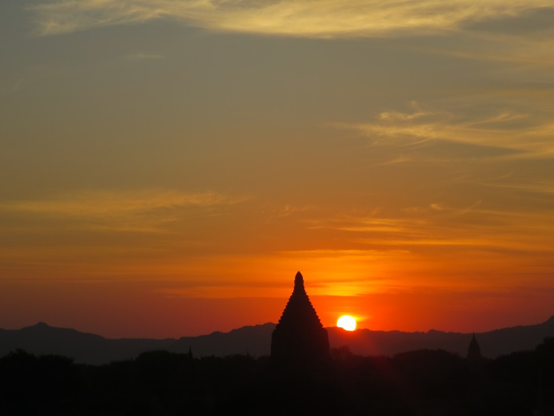 Sunset Over Bagan in Myanmar