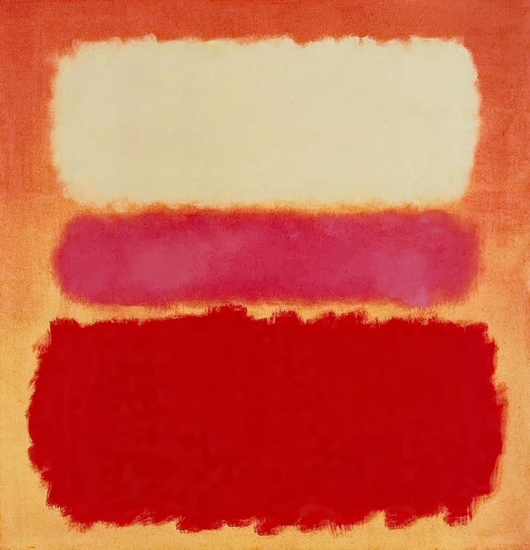Mark Rothko White Cloud Over Purple