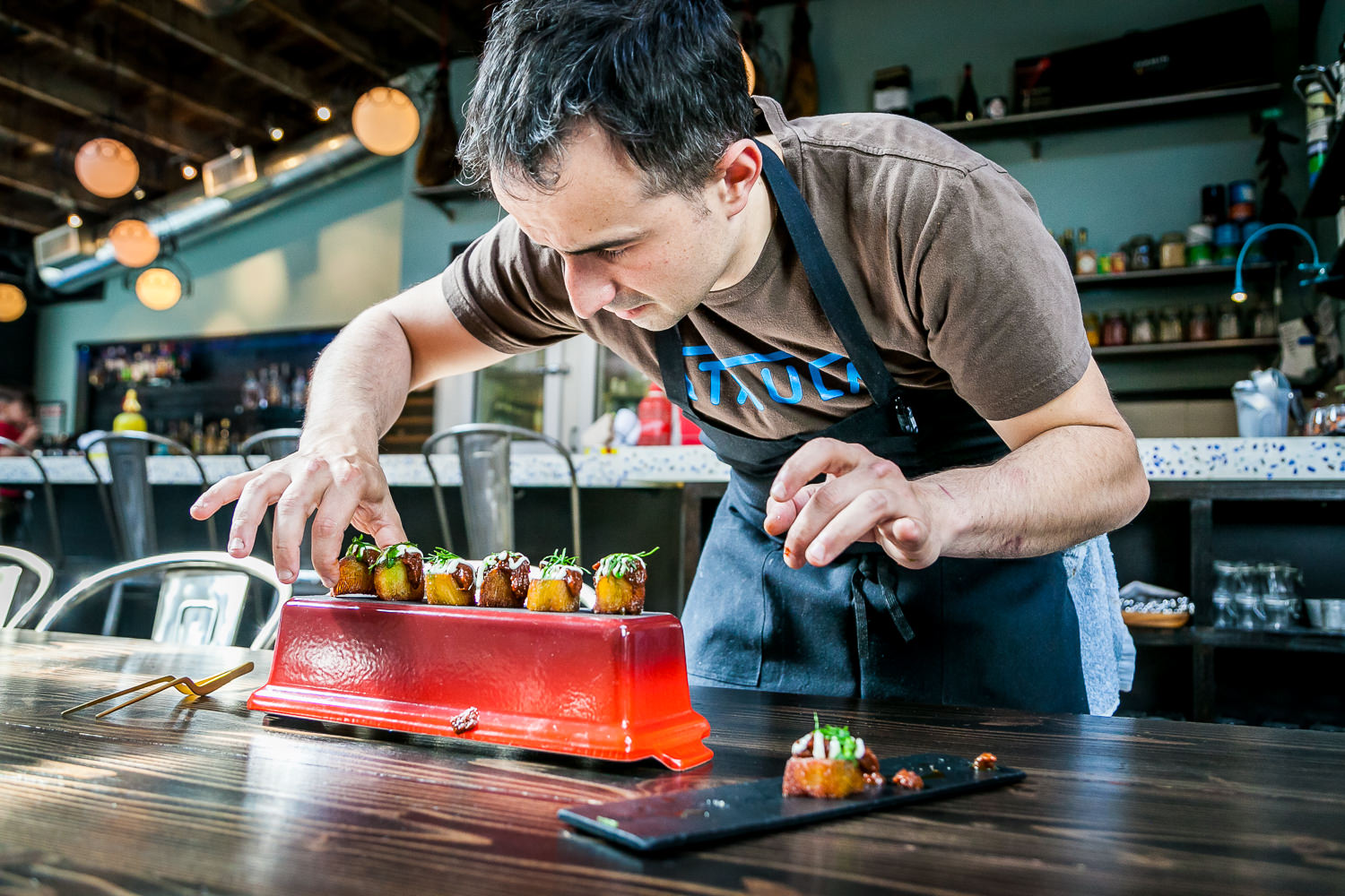 Chef José Chesa Plating