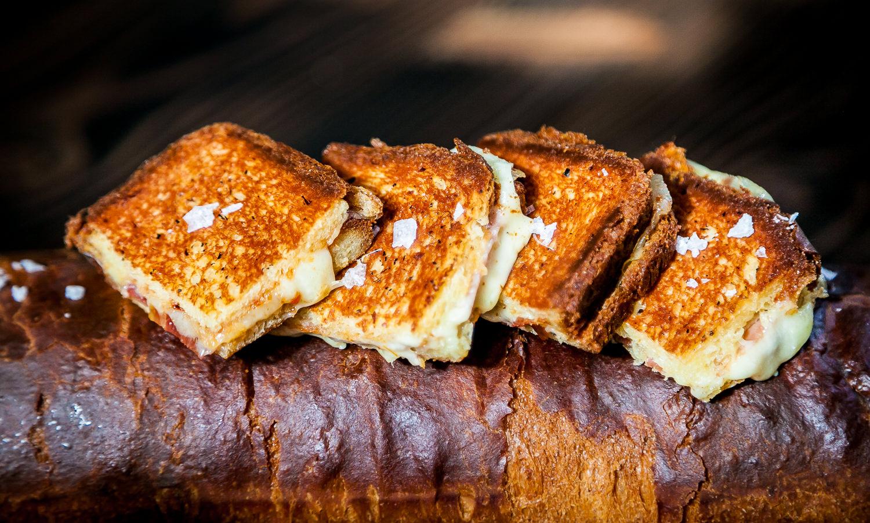 Bikini House-Made Brioche, Serrano Ham, Mahon Cheese, Tomato Jam, Truffle Butter