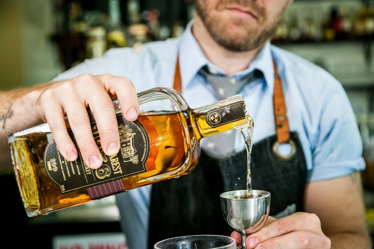 St. Jacks Uncle Nearest Whiskey Pour