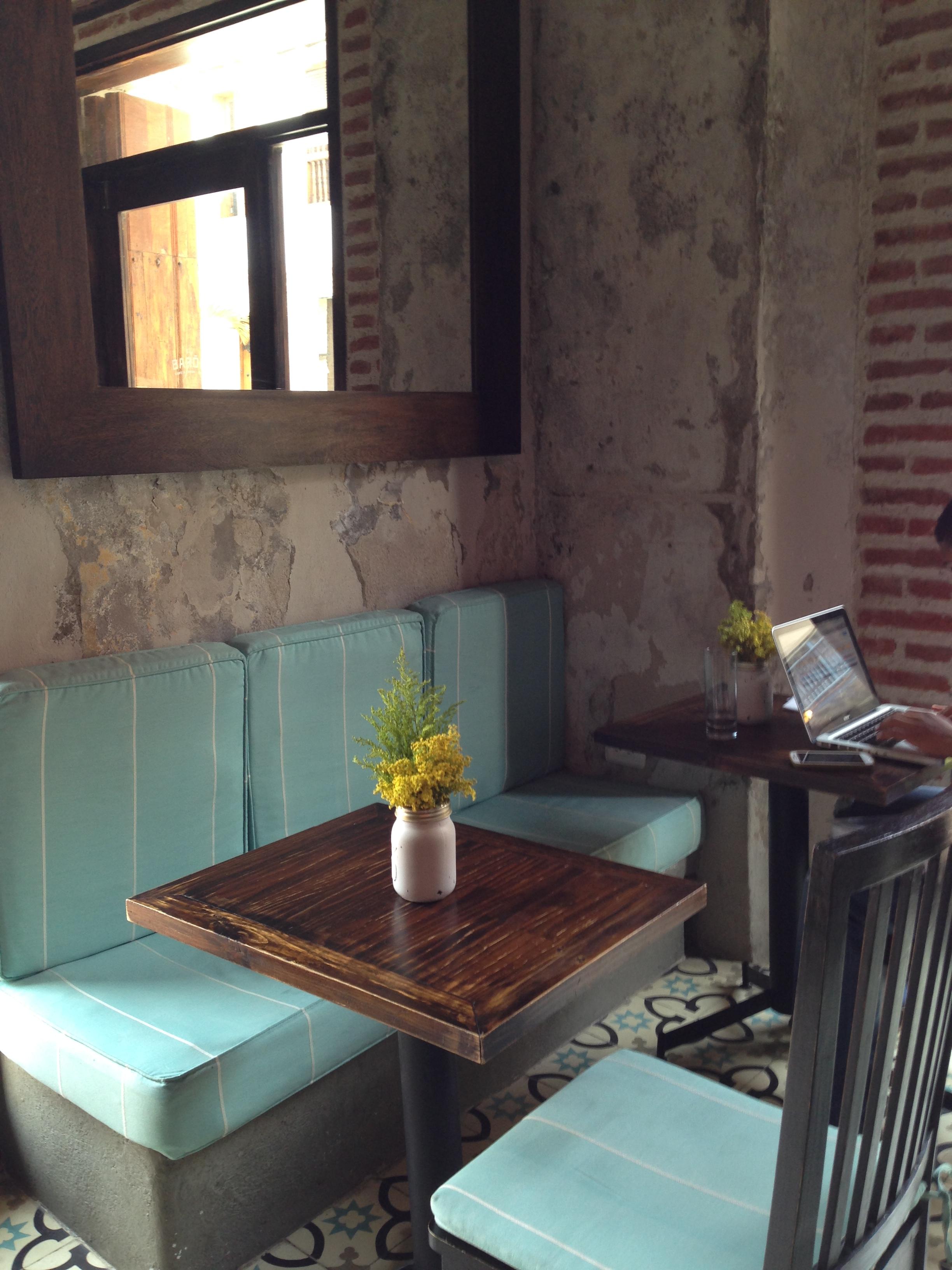 El Baron booth in Cartagena Columbia
