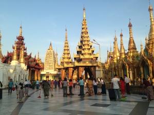 Shwedagon Pagoda in Burma