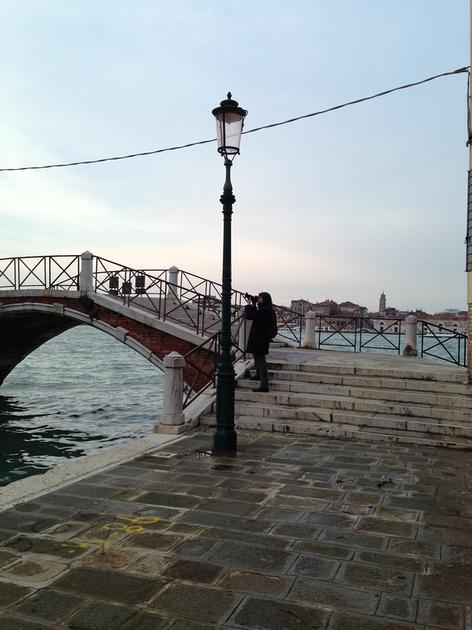 My Husband Capturing Venice in the Giudecca