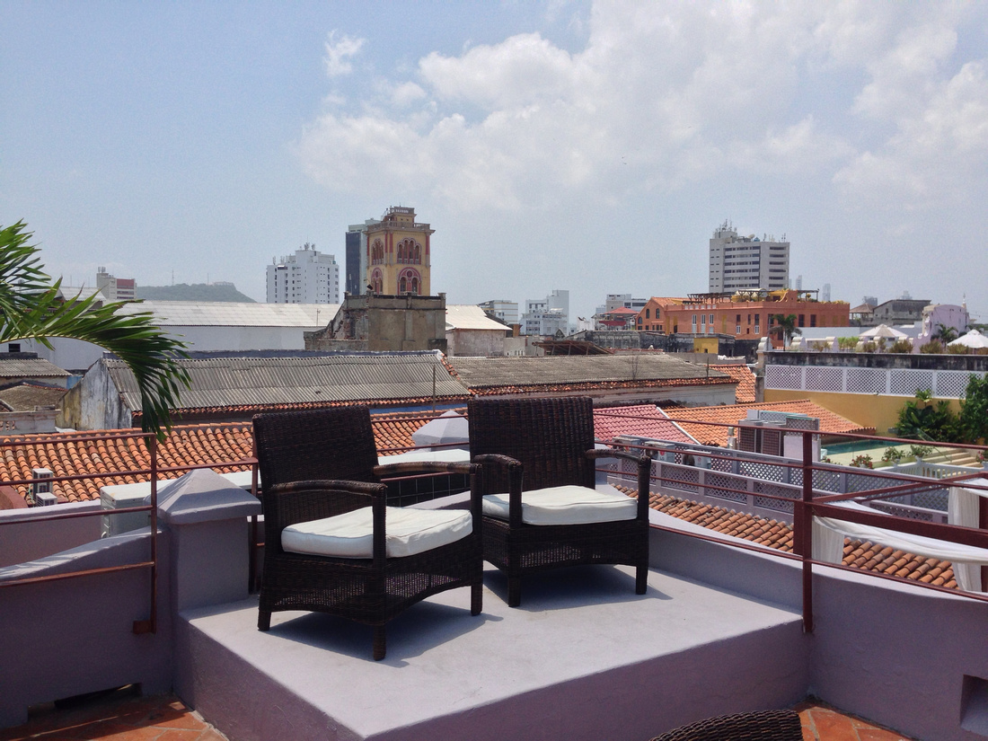 Rooftop Chairs at Hotel Ananda Cartagena Columbia
