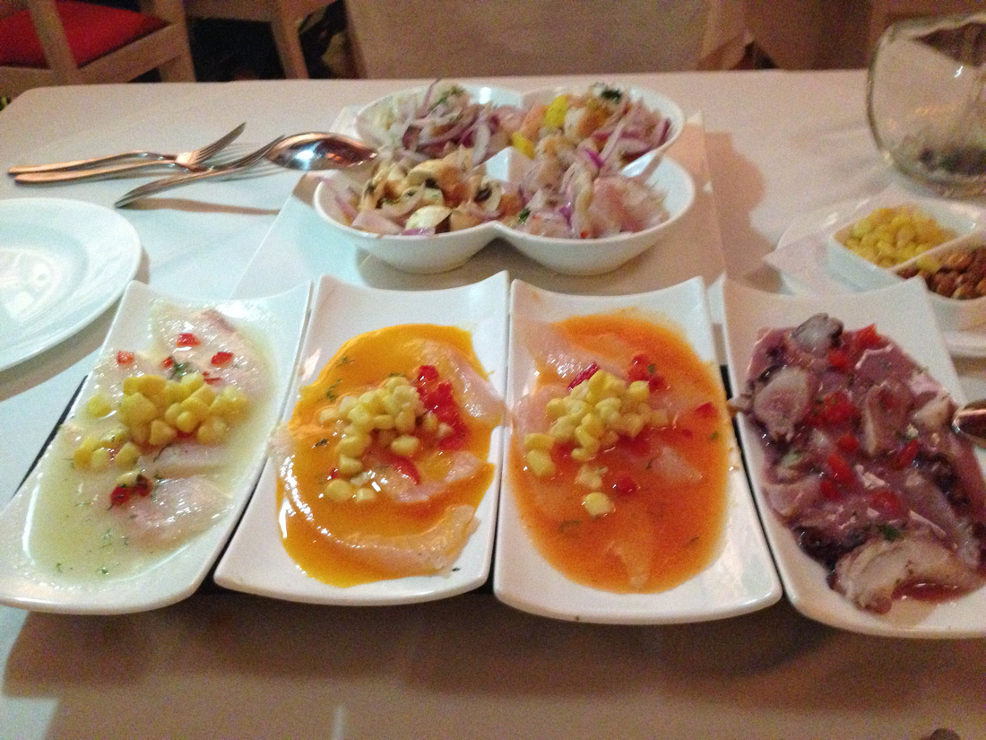 Tiradito at Brujas Cartagena