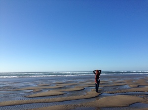 Breathing in Oceanside Beach Oregon