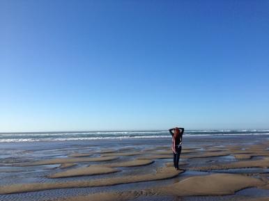 Breathing in Oceanside Beach Oregon