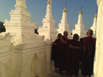Monks Posing for their Own Selfie