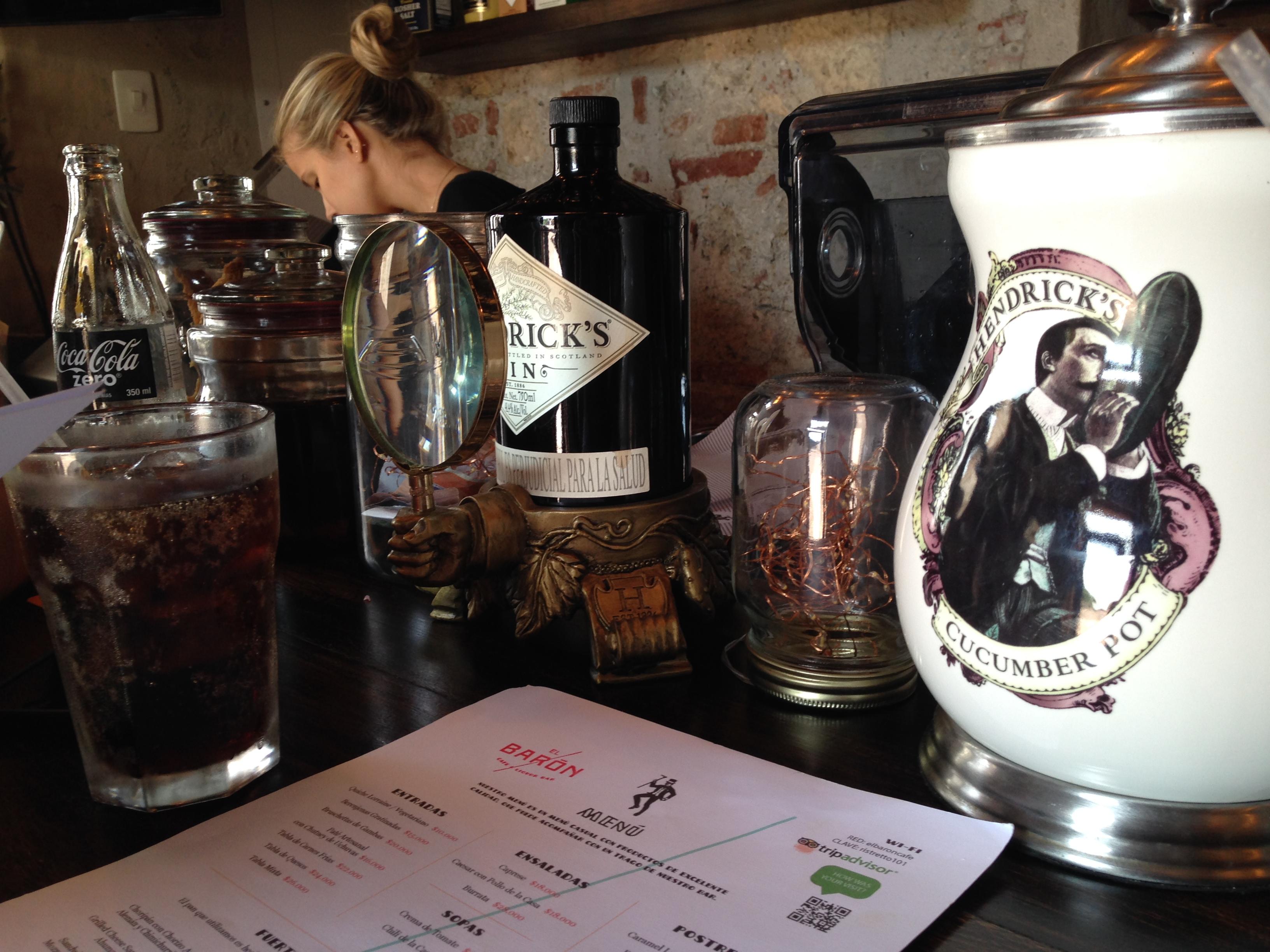 El Baron Bar in Cartagena Columbia