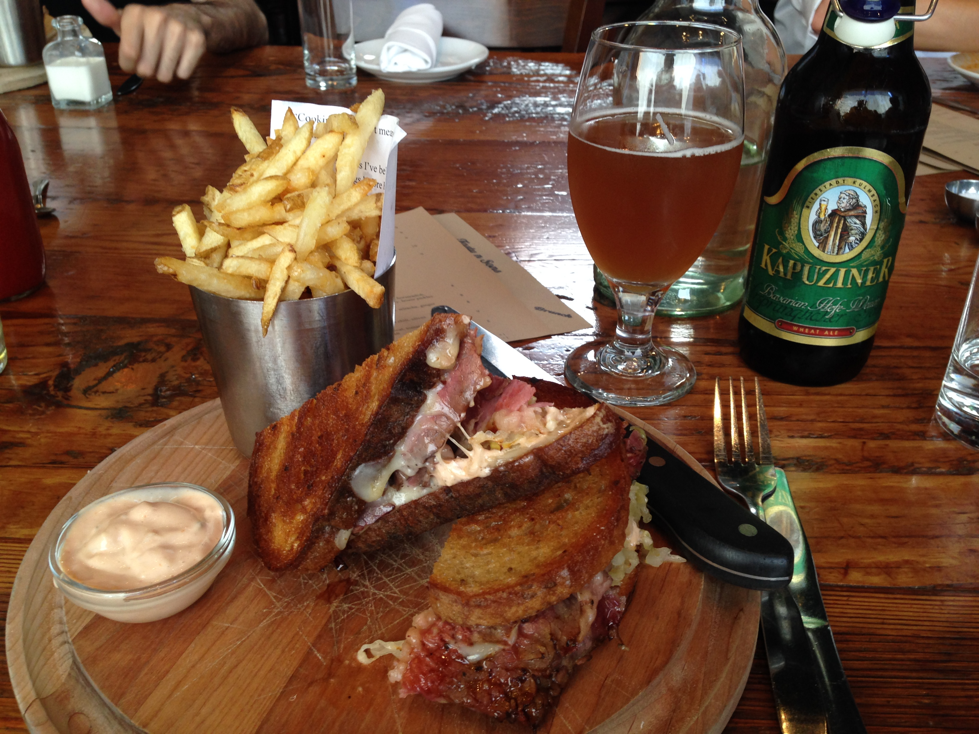House made Reuben from Tasty n Sons in Portland