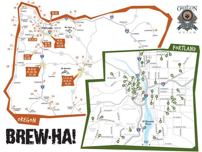 Oregon Brew Map
