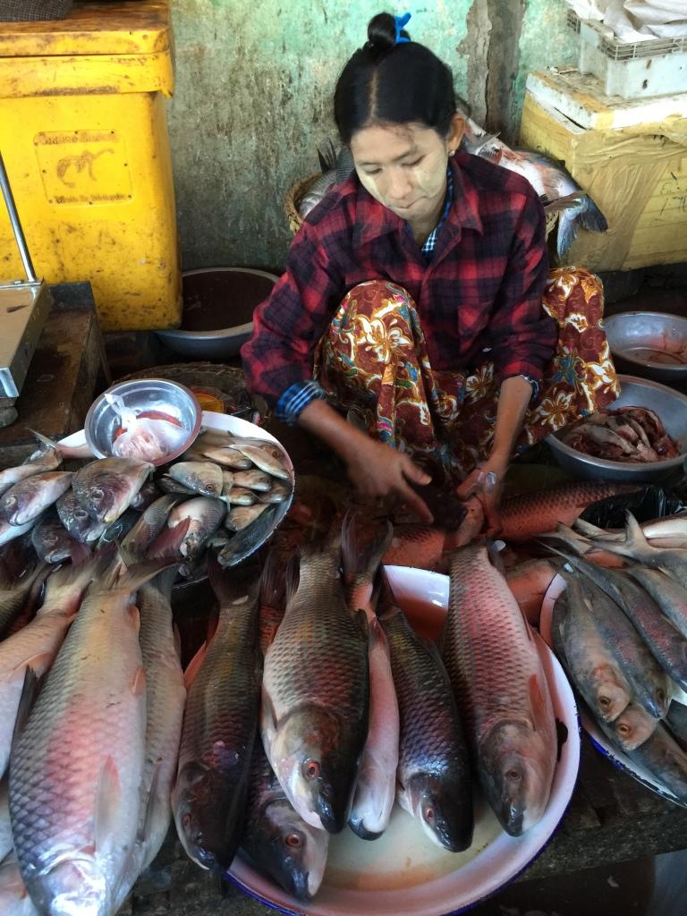 Bagan Market in Burma