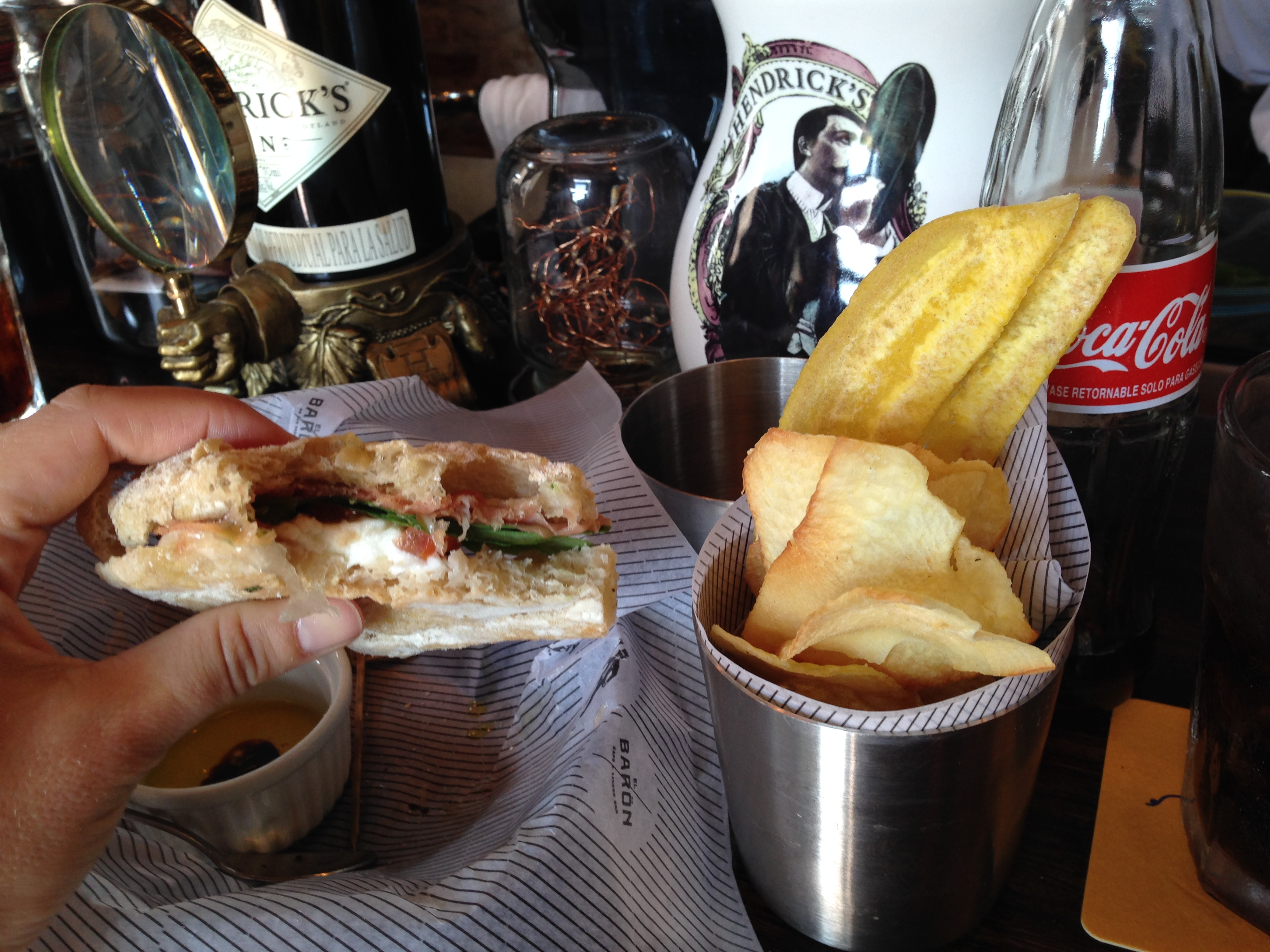 El Baron Bar sandwich in Cartagena Columbia